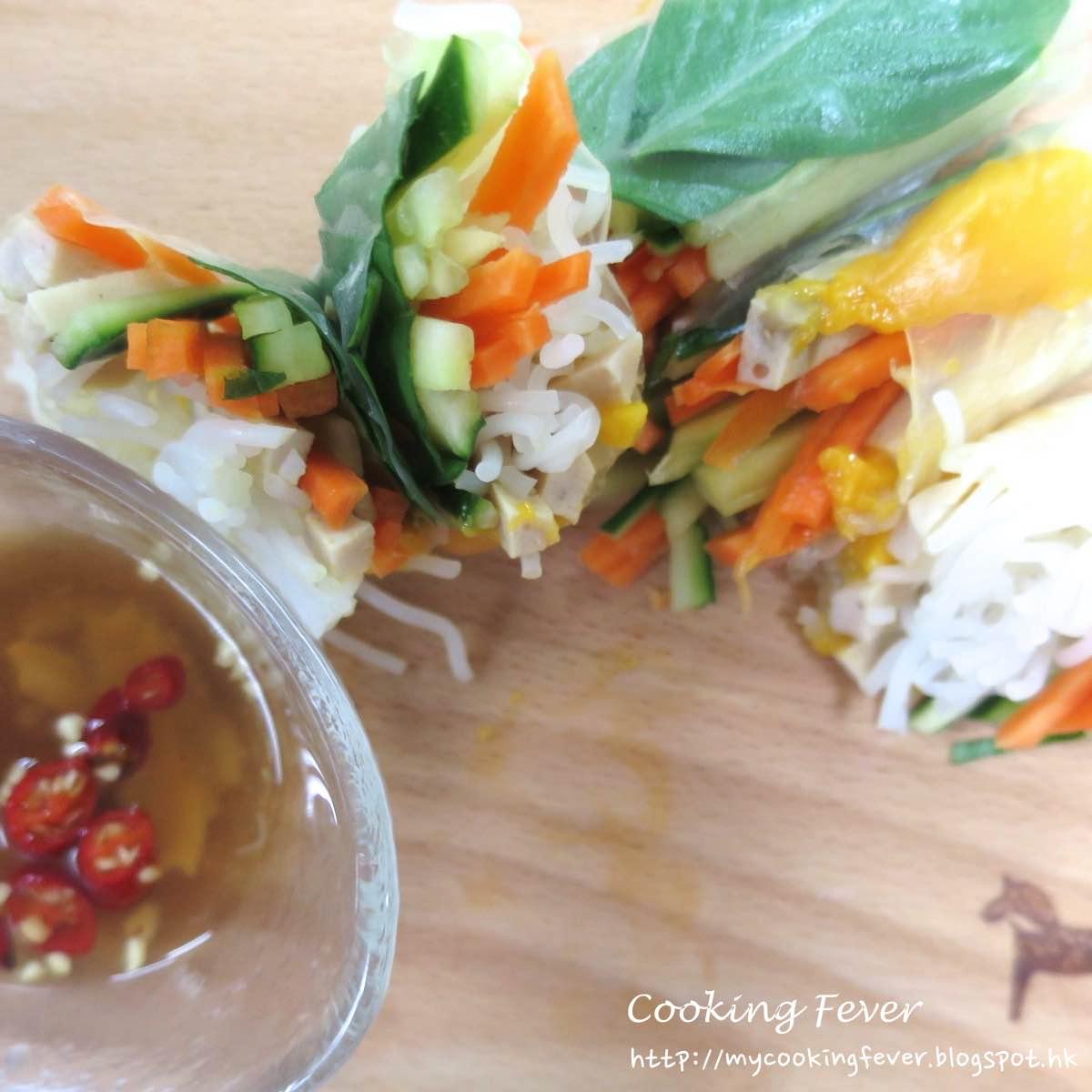 Vietnamese Mango & Pork Rice Paper Roll