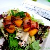 Pancetta Wrapped Peach with Truffle Balsamic Vinegar