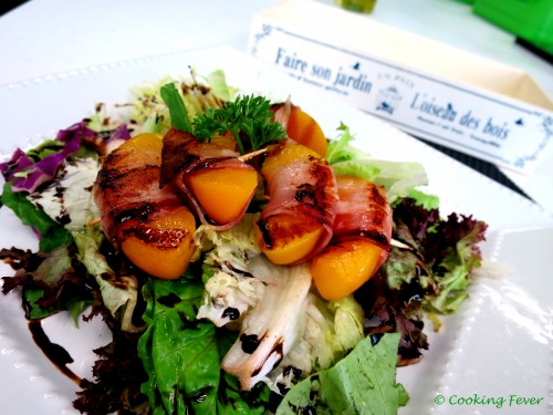 Pancetta Wrapped Peach wi