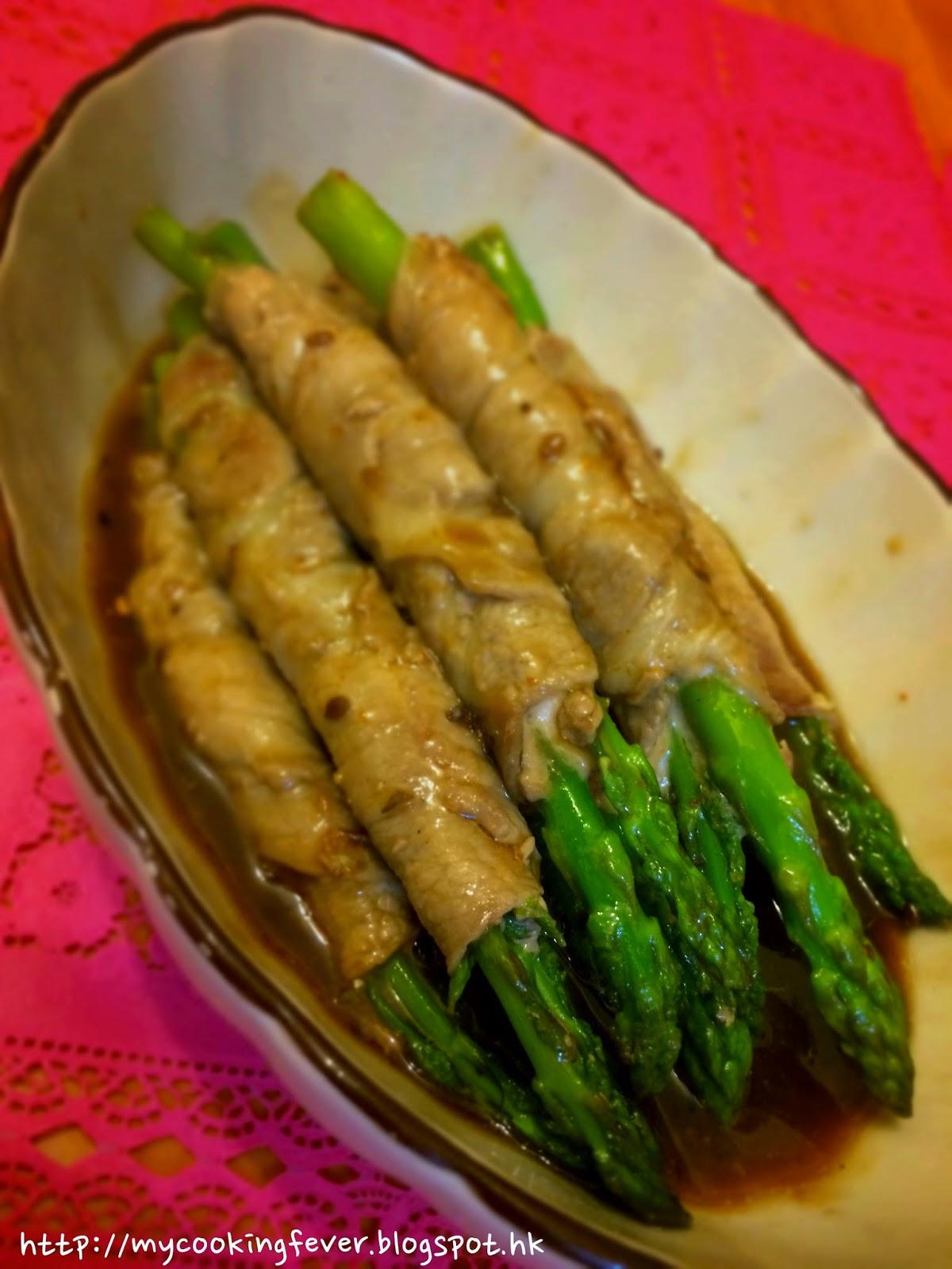 Asparagus Pork Roll with Teriyaki Sauce