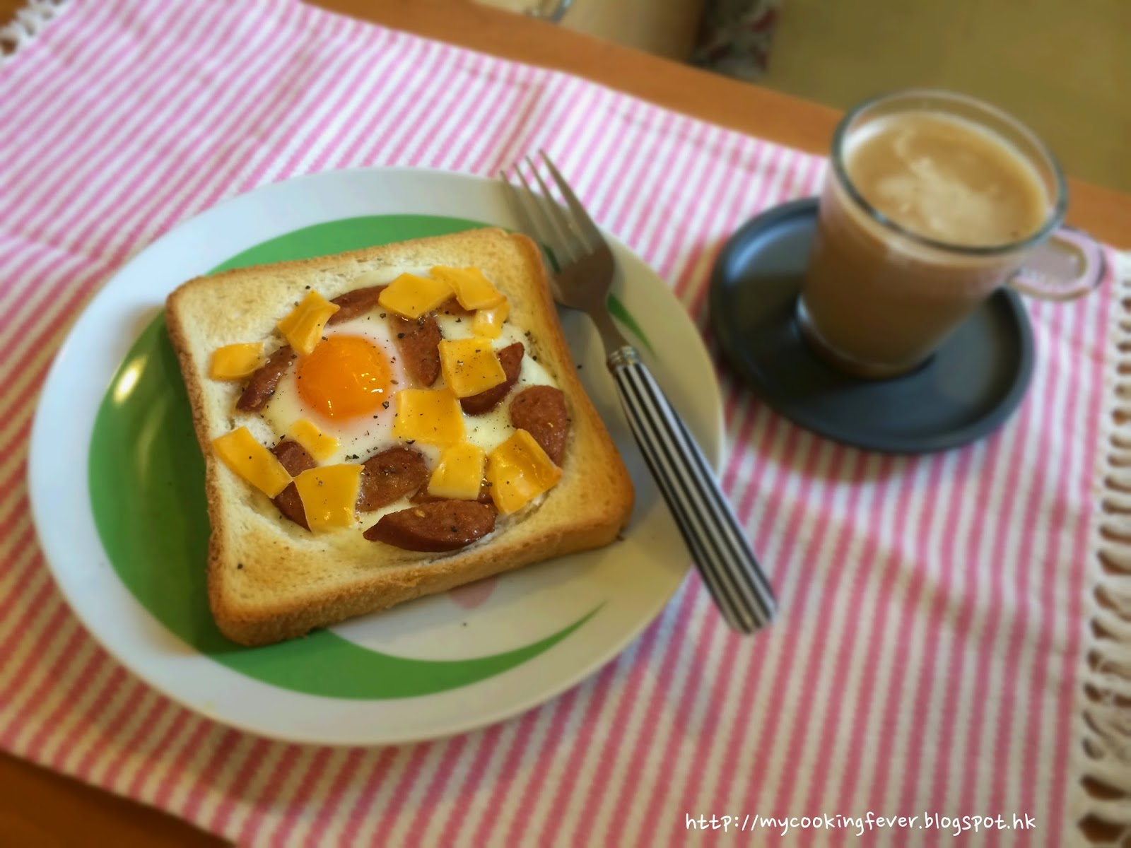 Baked Egg Sausage & Cheese Toast