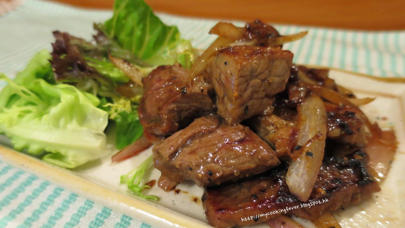 Pan-flied Beef with Black n Pepper