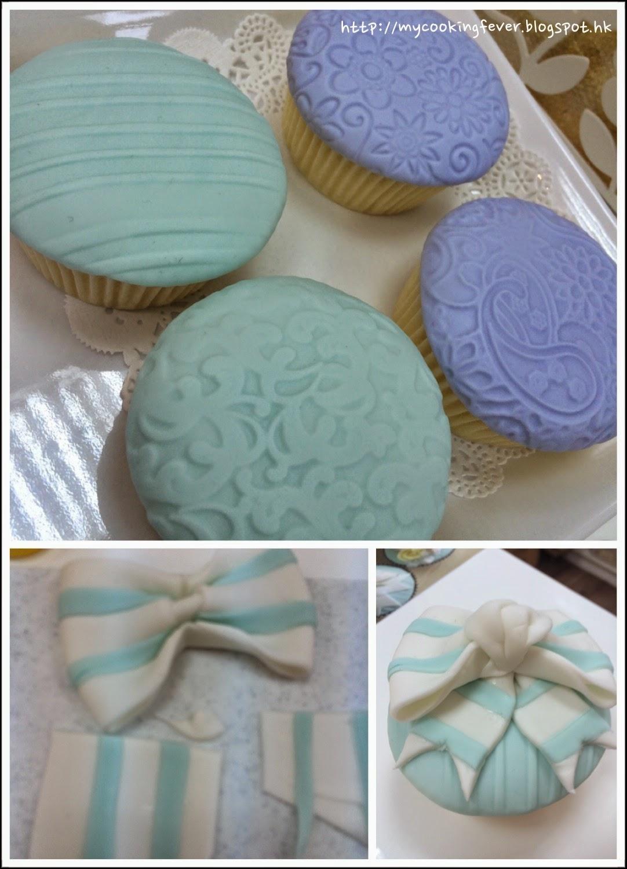 Ribbon Cup Cake Steps