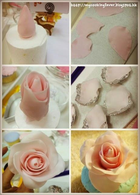Rose Cupecake Steps