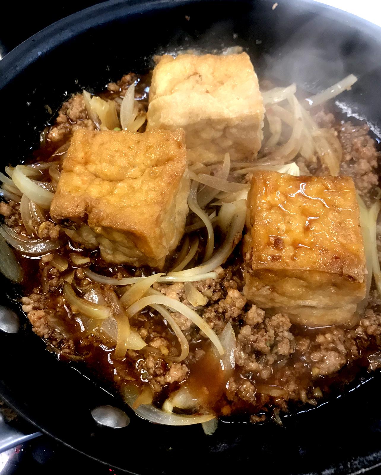 日式洋蔥肉碎厚炸豆腐